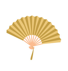 golden open fan isolated on background fan vector image