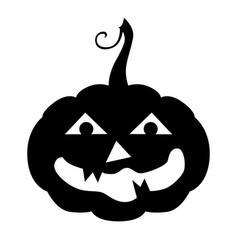 Halloween horror pumpkin icon vector