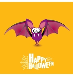 Happy halloween background with bat vector image