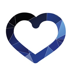 Heart icon Abstract Triangle vector