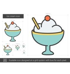 Ice cream line icon vector
