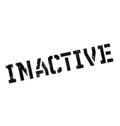 Inactive rubber stamp vector