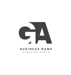 Initial letter ga logo - minimal business logo vector