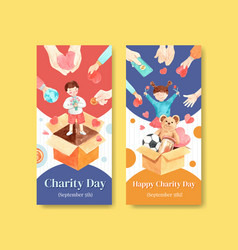 international day charity flyer concept design vector image