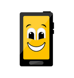 isolated happy cellphone emote vector image