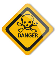 Label danger vector image