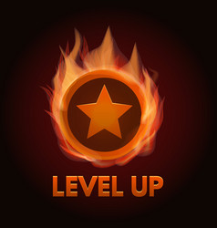 Level up game bonus icon vector