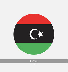 Libya round circle flag vector