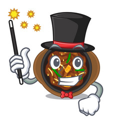 Magician bulgogi isolated with in character vector