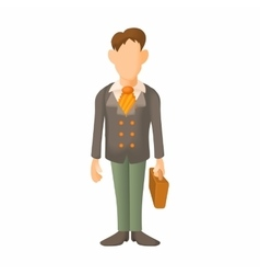 Man in suit icon cartoon style vector image