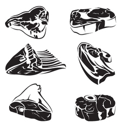 Meat images vector