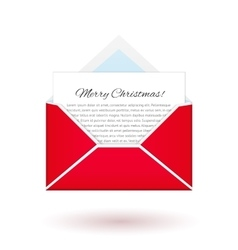 Merry christmas and happy New Year Message from vector image vector image