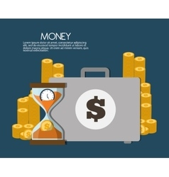 Money and suitcase icon design vector image