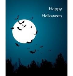 Moon with bats - Halloween design Horror vector image