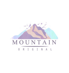 mountain original logo template tourism hiking vector image