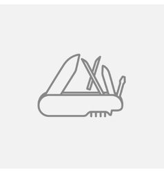 Multipurpose knife line icon vector image