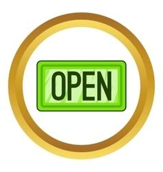 Nameplate open icon vector