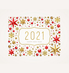 New year 2021 greeting vector