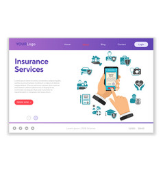 online insurance services concept vector image