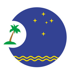 Pacific islands forum logo on white background vector