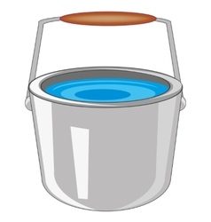 Pail with water vector
