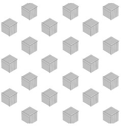 pattern abstract black cube design image vector image