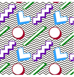 pattern memphis 80s vector image