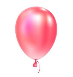 Pink helium balloon birthday baloon flying vector