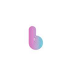 pixel letter b logo icon design vector image