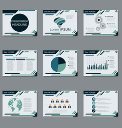 professional business presentation template vector image