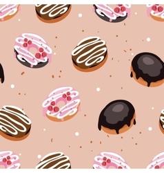 Seamless background pattern Delicious dessert vector