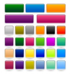 set web buttons vector image