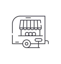 shop pickup line icon concept shop pickup vector image