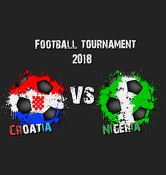 soccer game croatia vs nigeria vector image