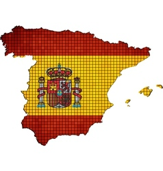Spain map with flag inside vector