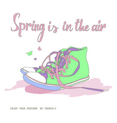 Spring is in the air vector