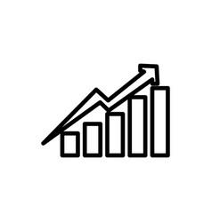 statistics growing graphic vector image