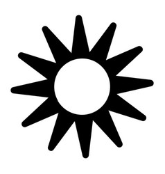 sun in the sky icon simple style vector image