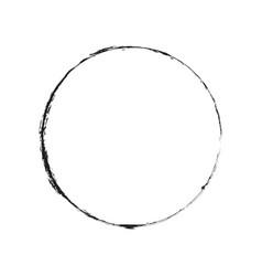 Thin circle frame vector