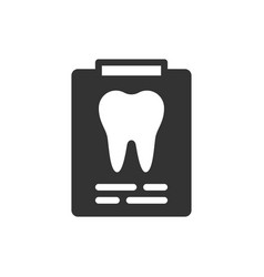 tooth on x-ray cute icon vector image