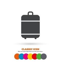Travel luggage bag icon Baggage symbol vector image
