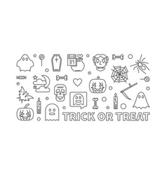 trick or treat outline 31 vector image