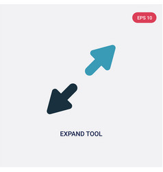 Two color expand tool icon from user interface vector