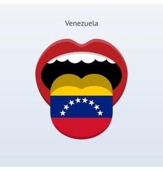 Venezuela language Abstract human tongue vector