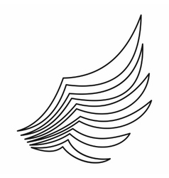 Wing icon outline style vector image vector image