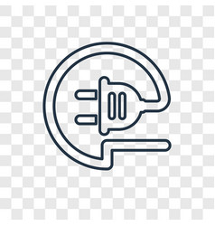 wire concept linear icon isolated on transparent vector image