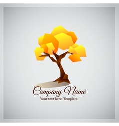 Company business logo with geometric yellow tree vector image vector image