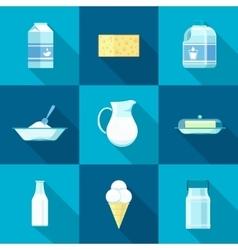 Milk icon set vector image vector image