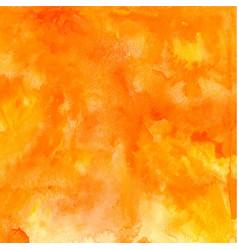 orange abstract hand drawn watercolor vector image