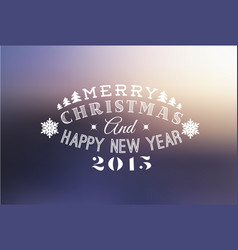 retro christmas label on blurred background vector image vector image
